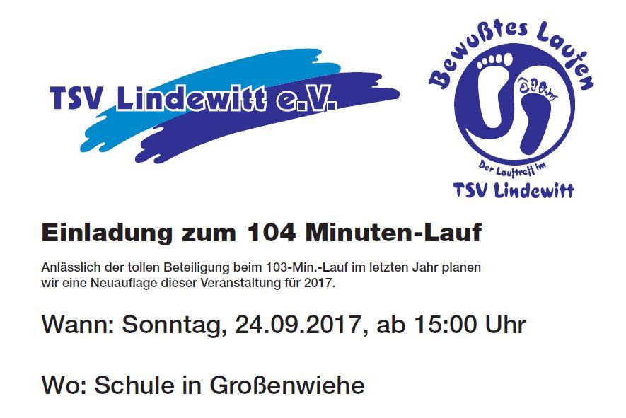 104 Minuten Lauf des TSV Lindewitt